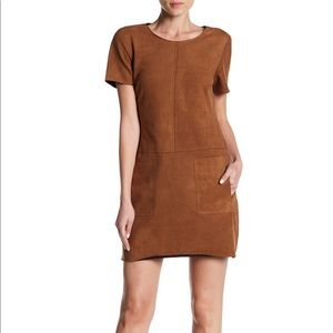 Vegan Suede Cognac Mini Dress